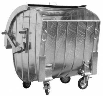 Контейнер для сбора ТБО со сферической стальной крышкой